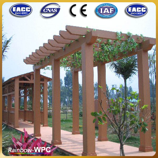 Promotional sale wood plastic composite canopy  outdoor synthetic pergola durable WPC pergola & Promotional Sale Wood Plastic Composite CanopyOutdoor Synthetic ...