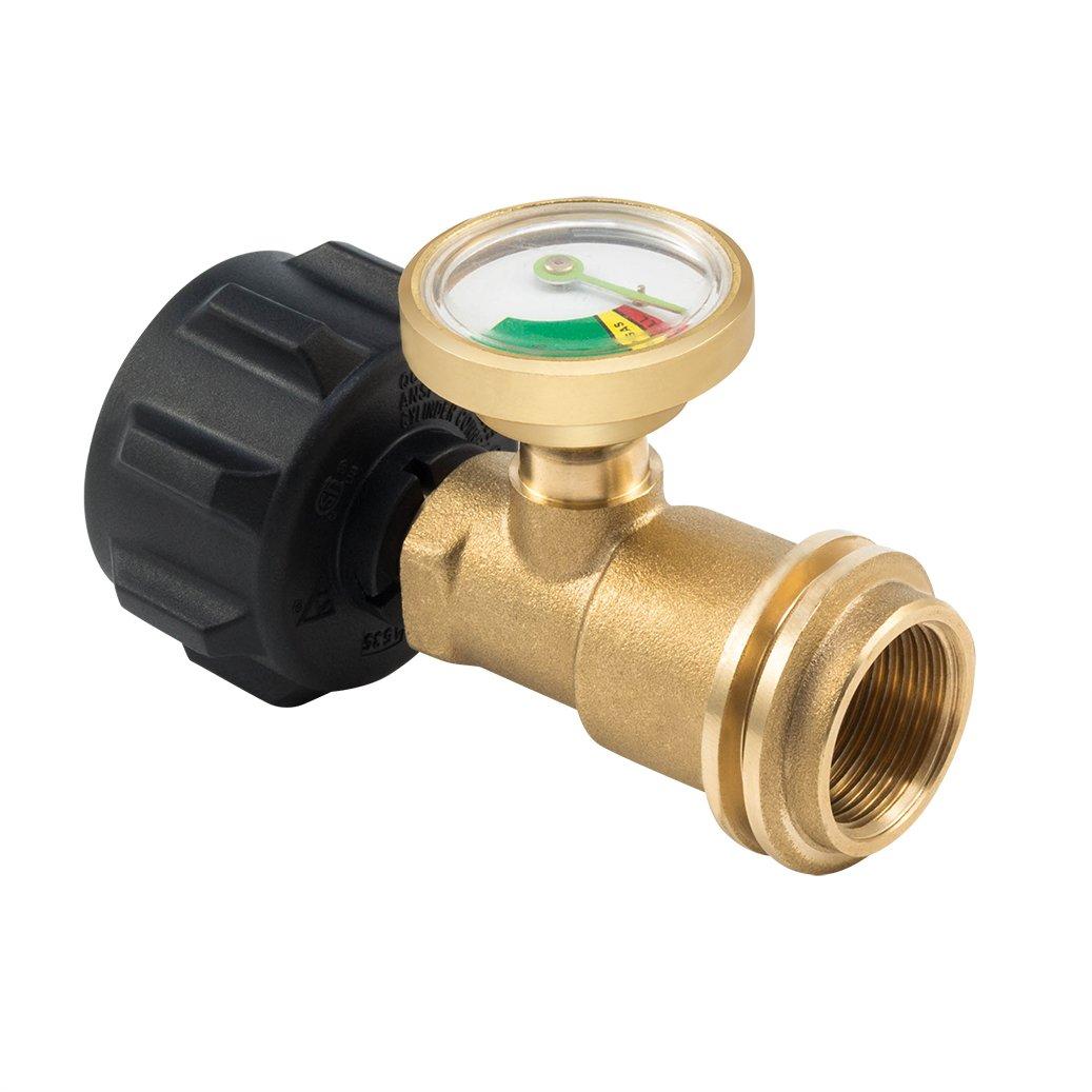 Propane Gas Guage meter, Tank Gauge/Leak Detector Brass Lead-free Propane Tank Cylinders Gas Pressure Meter, By E-Starlet