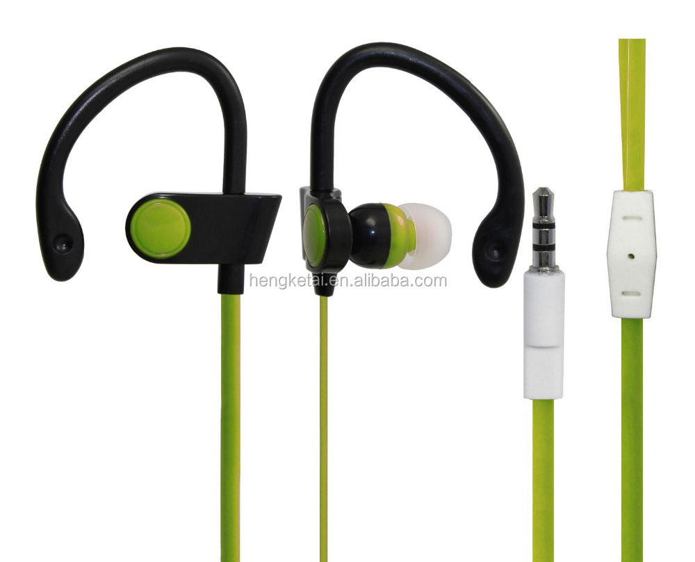 Branded earphones with mic earhook sport earphones free <strong>sample</strong> from China factory