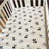 Cute Dog Print 100% Cotton Soft And Top Quality Nursery Bedding Standard Fitted Crib Sheet