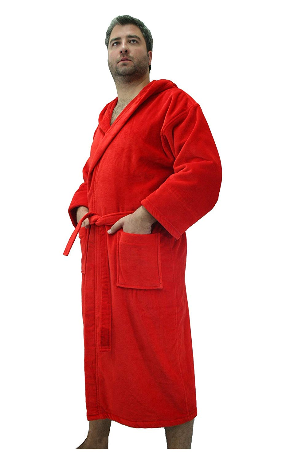 9fe2886ac6 Get Quotations · Custom Embroidered Cotton Hooded Adult Robes