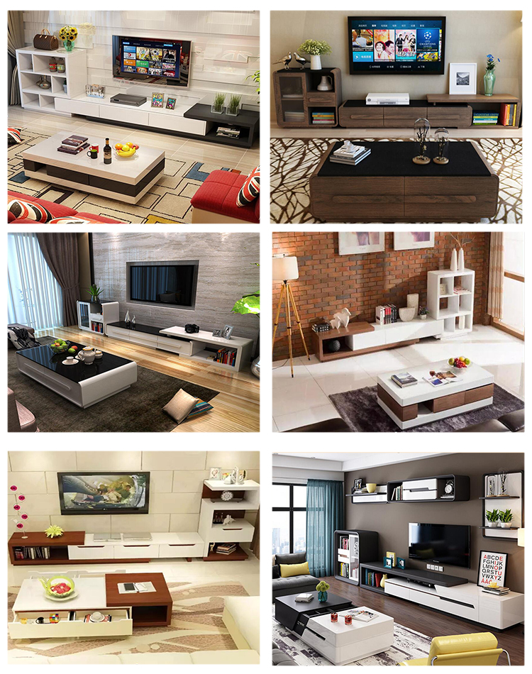 living room furniture simple modern tv stand wood cabinet