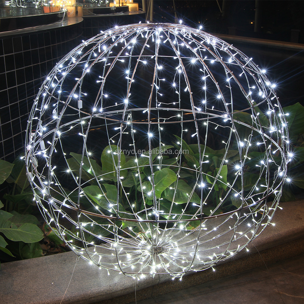 Giant outdoor lighted ornaments - Lighted Christmas Hanging Balls Decoration Lighted Christmas Hanging Balls Decoration Suppliers And Manufacturers At Alibaba Com