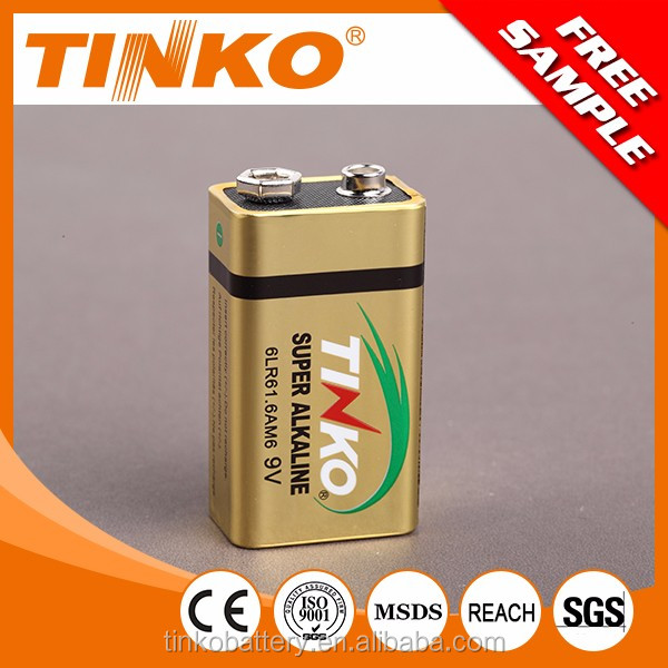With SGS shenzhen industrial 6LR61 super alkaline battery 9v (Dry battery )