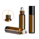 Chinese Manufacture 10ml Amber Essential Oil Roll On Glass Perfume Bottle