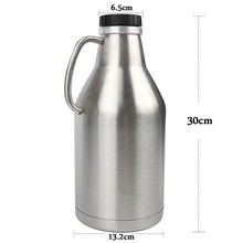 Stainless Steel 304 Double Wall Vacuum Insulated 64 Oz <span class=keywords><strong>Bir</strong></span> Growler