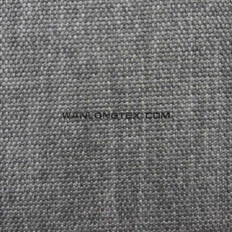 Hot sale UK Market Big Spot linen fabric with PA coating for upholstery