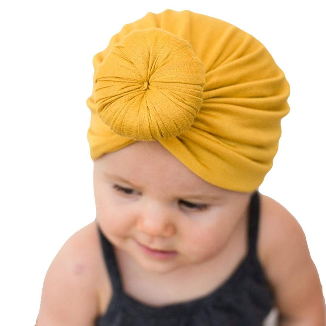 Voberry Baby Girl Turban Headwear Cap Toddler Print Floral Scarf Hat for Summer Autumn