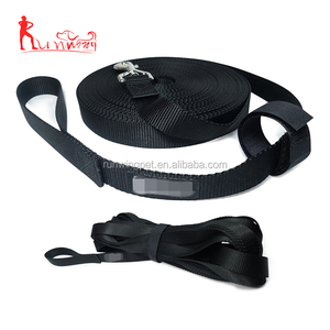 1 Inch Nylon Long Dog Training Leash training lead with Storage Strap