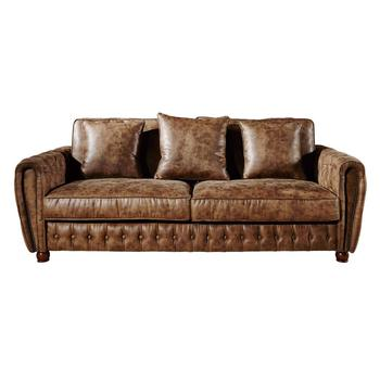 Vintage Tan Leather 3 Seater Sofa With Cushion Buy Vintage Tan Leather Sofa Vintage Leather 3 Seater Sofa Vintage Leather Sofa Product On