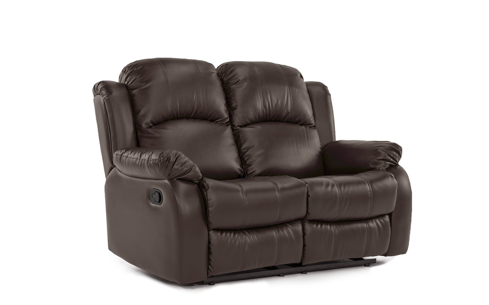 Divano Roma Furniture Classic and Traditional Bonded Leather Recliner Chair, Love Seat, Sofa Size - 1 Seater, 2 Seater, 3 Seater Set (2 Seater)