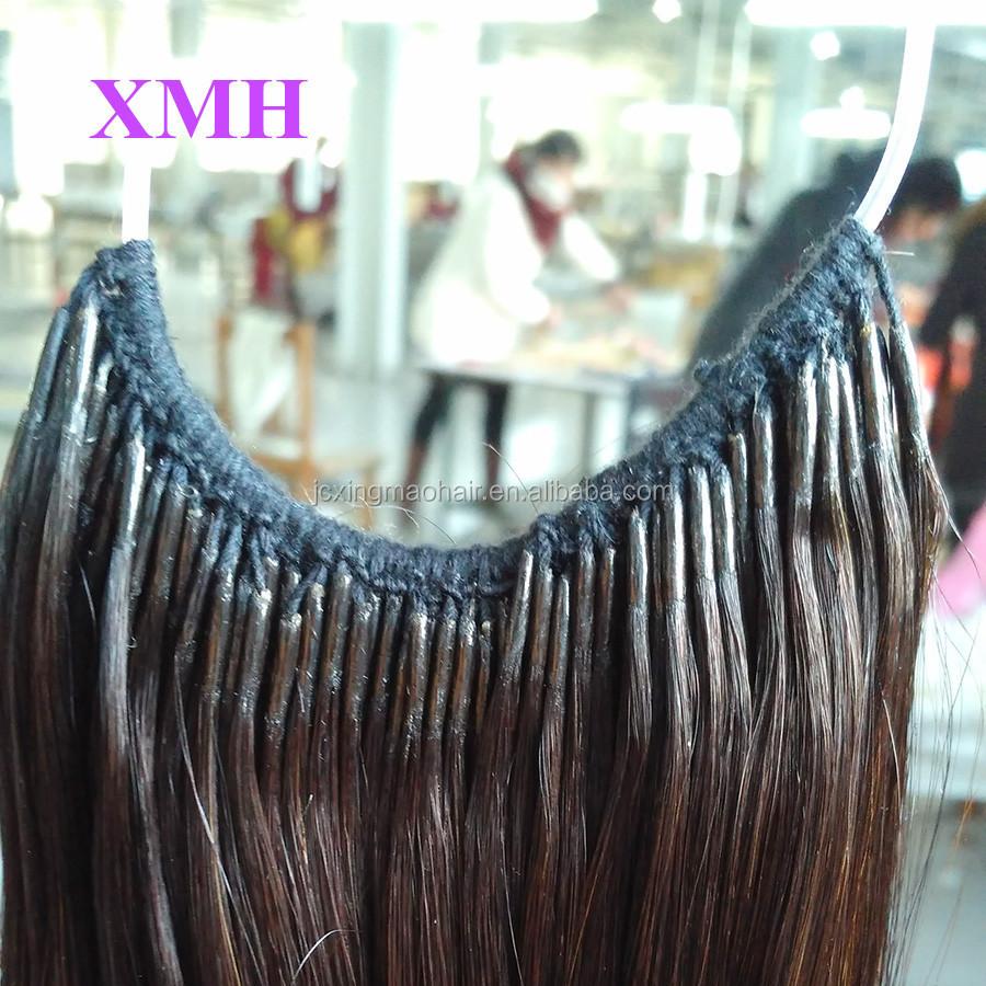 Wholesale korea knotted hair extension cotton thread hair wholesale korea knotted hair extension cotton thread hair extension with two strands hair pmusecretfo Images