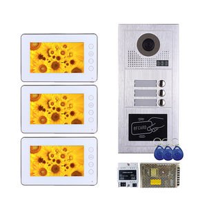 7 Inch Video Door Phone Doorbell Home Security Camera Monitor Intercom System RFID Door Access Control System with Two-way Audio