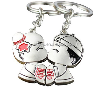 Romantic Chinese Lovers Kiss Keychain