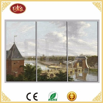 Twinkle BES City Scape LED Canvas Painting 3 Panel