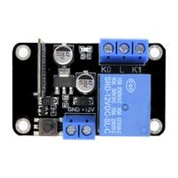 DC12V ESP8285 Self-Lock Smart Home WiFi Wireless Switch Delay Relay Module Replace ESP8266 by APP Control Compatible for Android