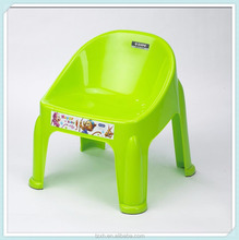 New green stackable plastic kid chair