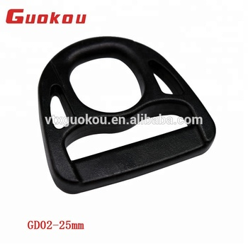 Large stock promotional plastic d ring buckle 25mm