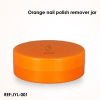 PP orange colored nail polish remover jar