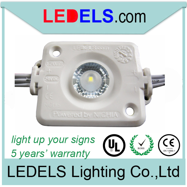 24v 175 degree led module for sign box and ceiling lighting powered by original Nichia led 1.2w with lens and UL E468389