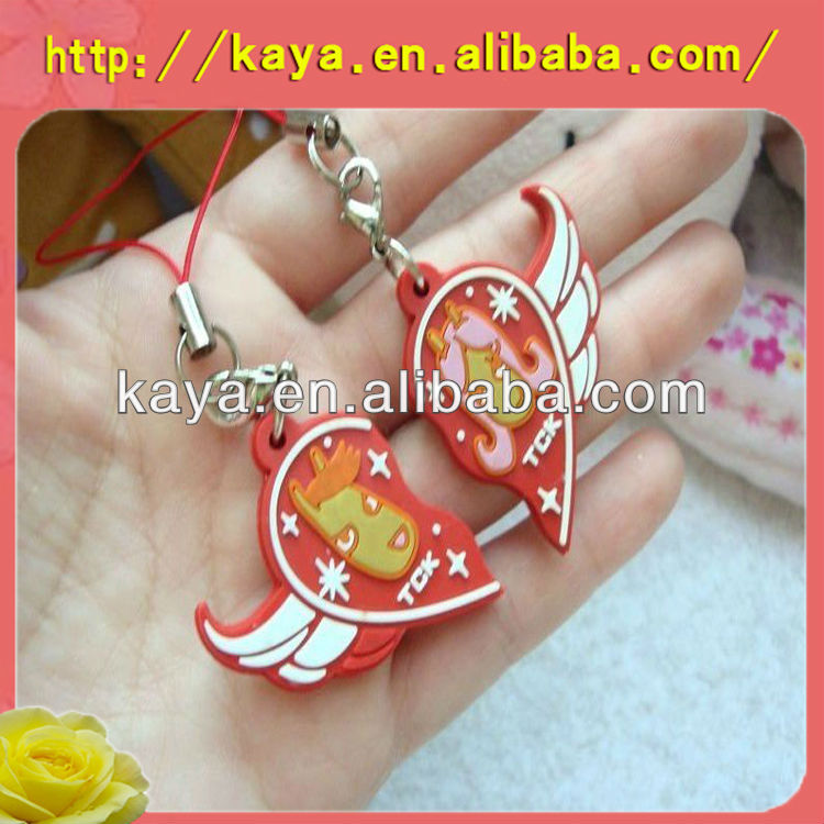 Fashion and absorbing couple mobile phone charms