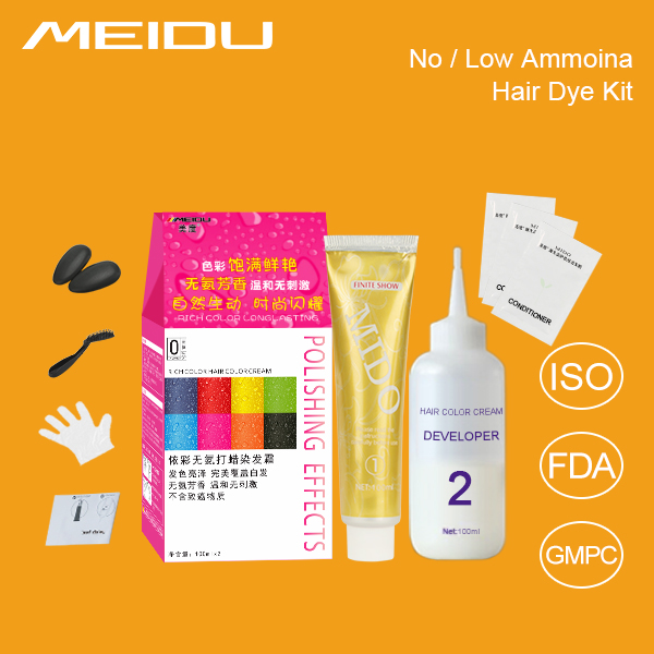 Hair Color Brand OEM Manufacturer Private Label Halal Best Natural Glow In The Dark Permanent Hair Dye Kit With Wholesale Price