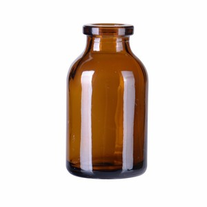 Factory price recyclable custom design glass medical bottle