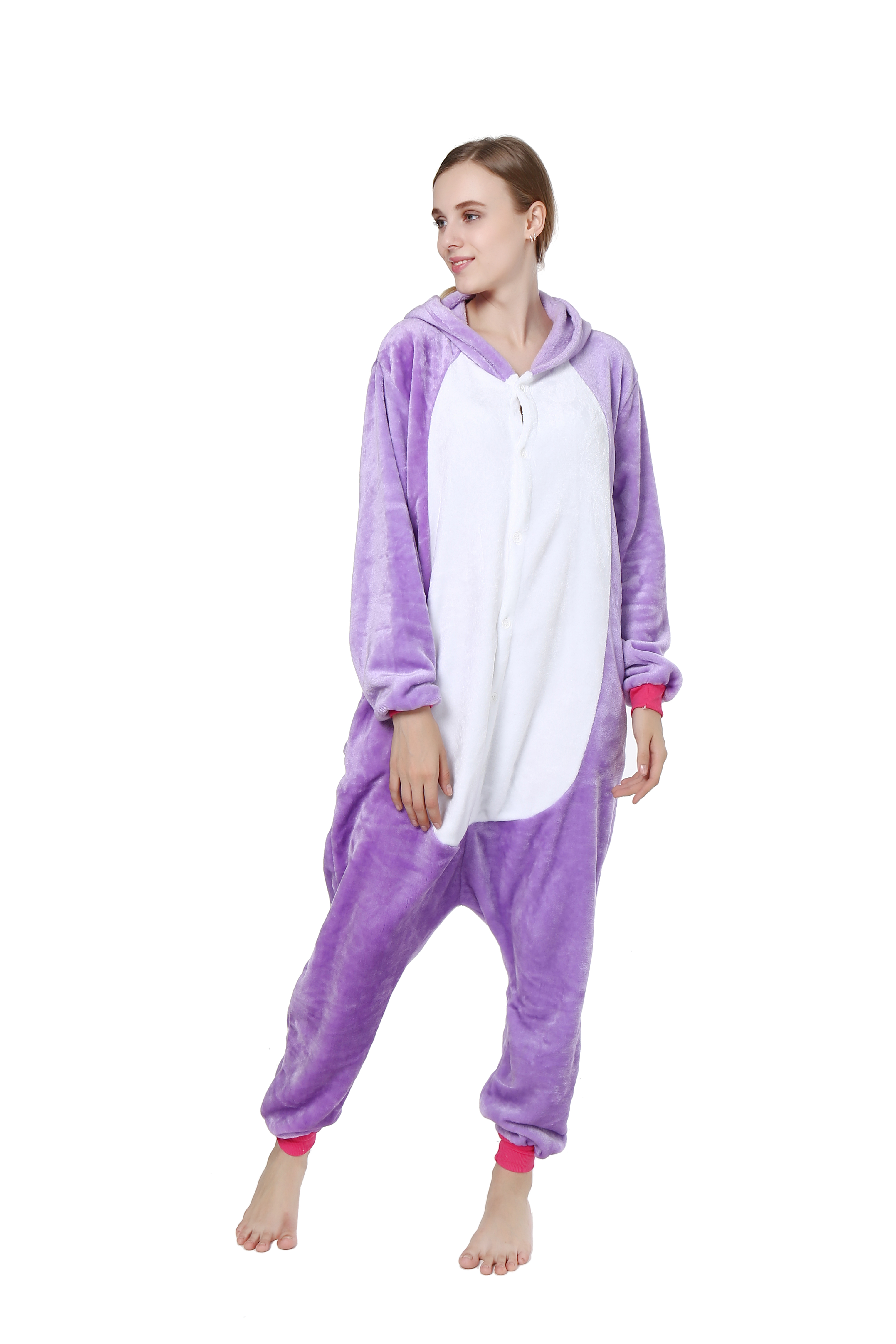 4bb7f0ef362b cheap Kigurumi Pajama Unicorn Onesie Pajamas Flannel Purple   Pink Cosplay  For Animal Sleepwear Cartoon Halloween