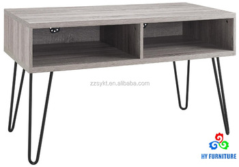 Retro Metal Legs Wooden Console Table TV Unit Desk Stand Cabinet With  Drawers