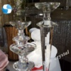 Hot ! ZT-026 set tall crystal candlestick for wedding table decoration