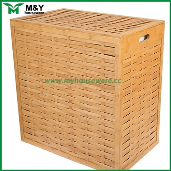 18b3eb73ba9 Woven Grey Laundry Basket In Bamboo - Buy Woven Grey Laundry Basket ...