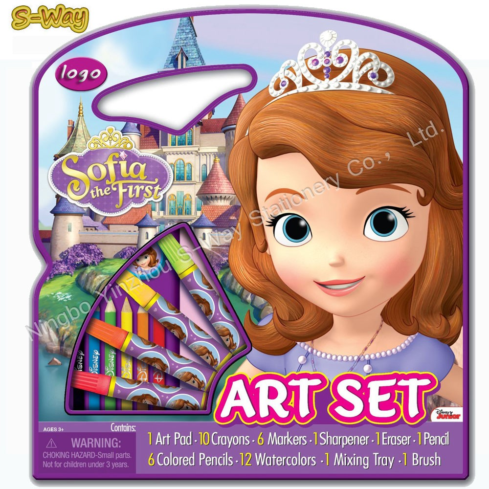 Character Art Tote Activity Set ,stencils boxes for kids
