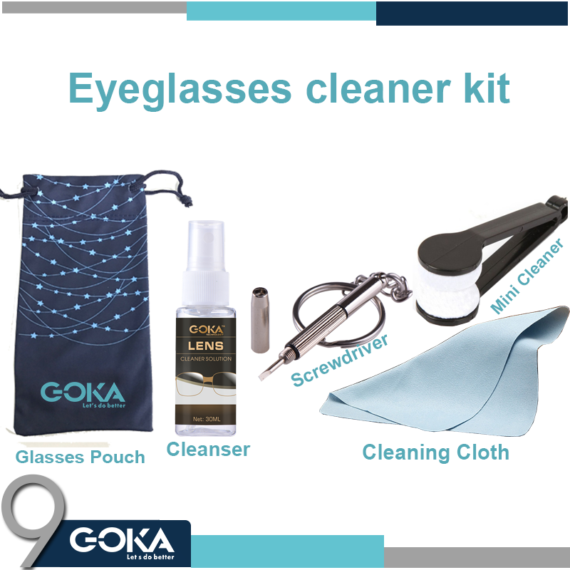 Sunglasses / Glasses Cleaning / Repair kit with screwdriver and Cleaning Fluid