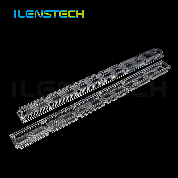 Optical PC led linear lenses 490.15mm /led light wall washer lens with smd 2835 3030 3535 led