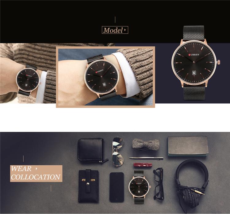 Curren 8302 Fashion Men Quartz Watch 12