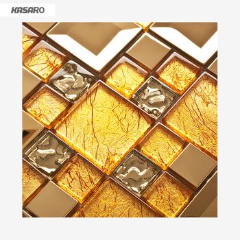 Wonderful Parete Decorazione Piastrelle Oro Mosaico Di Vetro Foglia Oro Piastrelle  Mattonelle Di Mosaico Di Vetro Di