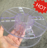 empty transparent plastic spool for 1kg 3d printer filament