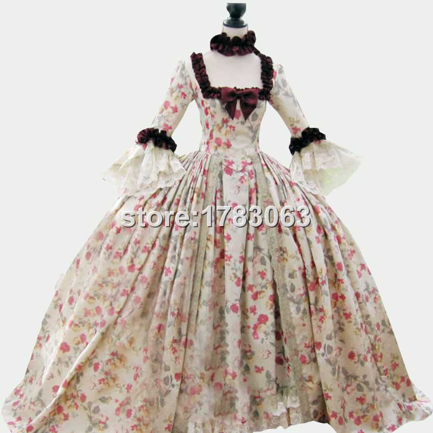Buy 18th century Colonial Georgian Marie Antoinette gown Recently ...