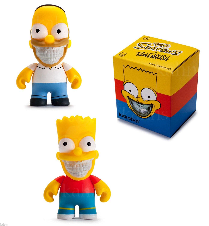"Bart Grin 3/"" Mini Figure par Ron English X Simpsons x Kidrobot"
