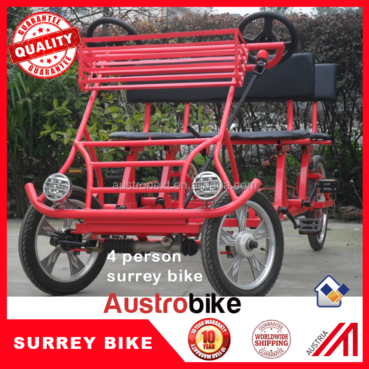 2 person surrey bike with LED for sightseeing beach bike tourism bike family surrey bike