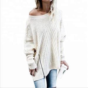Latest Customization Fashion Women Zipper Knitwear