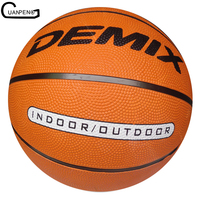 8 Panels Orange Printed Rubber Basketball Size 5