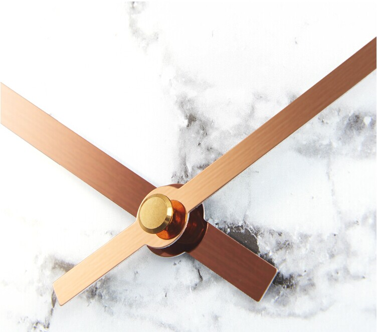Copper Color Metal Wall Clock Modern Simple Design Decorative Clock