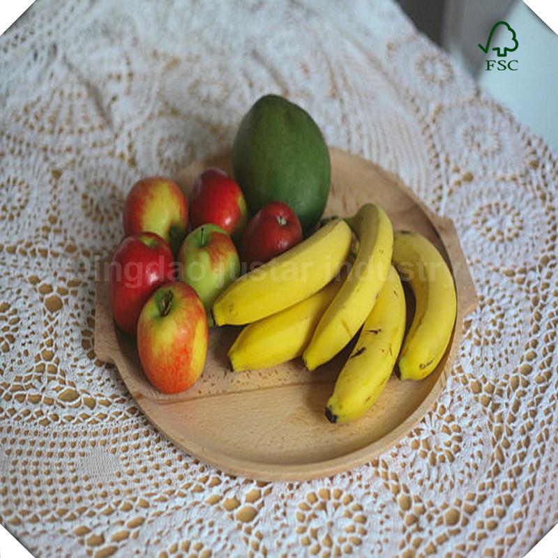 Food Safety Acacia Wood Fruit Round Serving Tray Buy Wood Fruit
