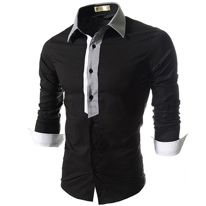 75e38f7ee27 Get Quotations · 2015 New Brand Mens Dress Shirts Long Sleeve Casual Shirt  Men Slim Fit Brand Stylish Design