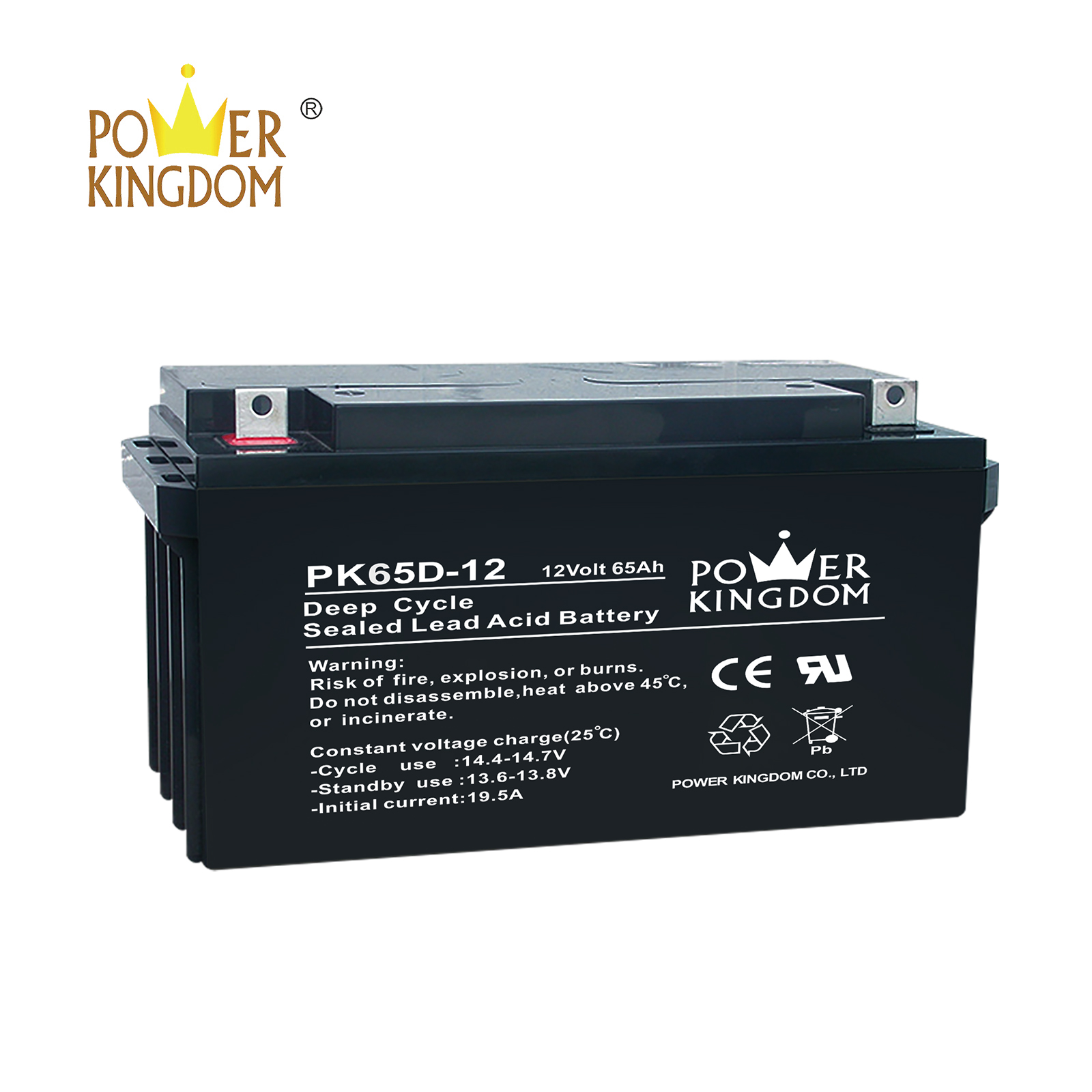 Power Kingdom 130 amp deep cycle battery factory wind power systems-2