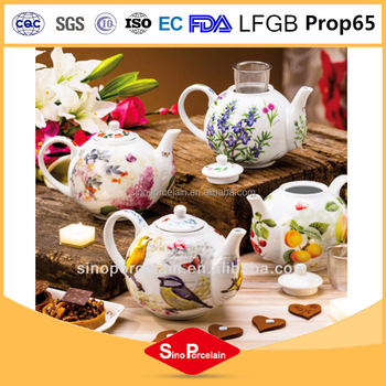 Porcelain Teapot with Strainer chinese enamel Ceramic Teapot Tea Pot