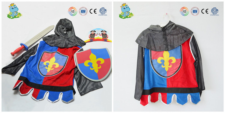Hot selling new design cute knight role play costumes