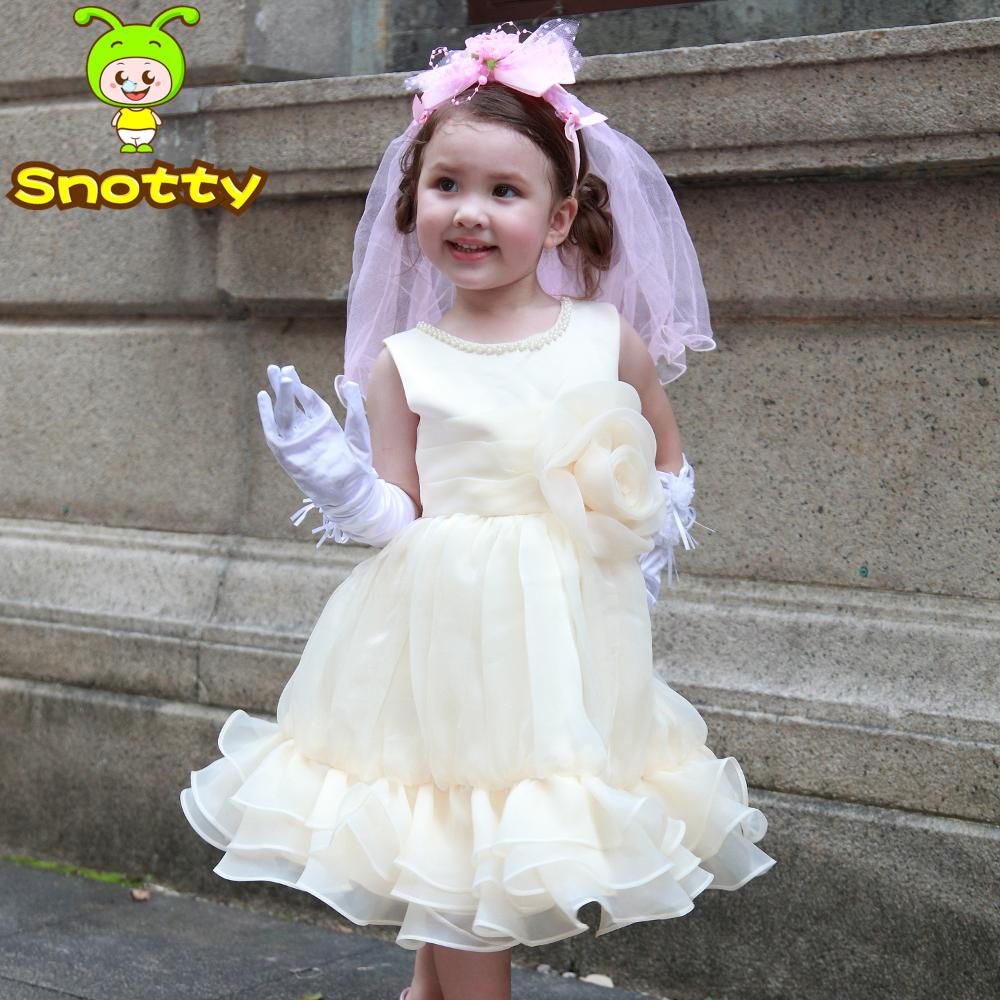 buy 2014 baby girl wedding dress yellow organza princess dress latest dress. Black Bedroom Furniture Sets. Home Design Ideas