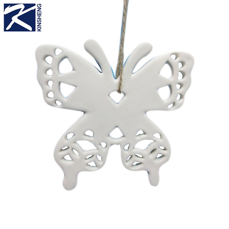 Kinsheng Personalized White Butterfly Porcelain Ornament Blanks - Buy  Porcelain Ornament Blanks,Ornament Blank,Butterfly Ornament Blanks Product  on